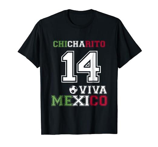 74e6101004eb0 Amazon.com  Chicharito numero 14 viva Mexico Rusia 2018 Soccer Fan T ...