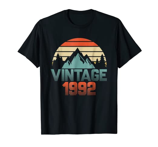 Vintage 1992 Shirt 26th Birthday Gifts 26 Years Old Awesomne
