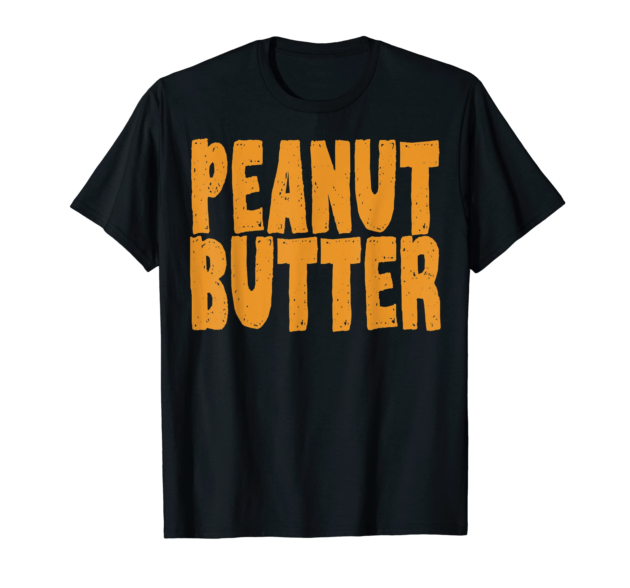 Peanut Butter T-Shirt Jelly Couples Friends Halloween Shirt-Men's T-Shirt-Black