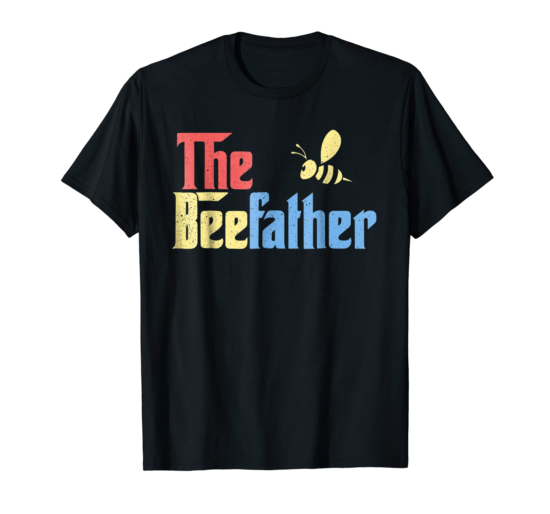 Mens The Bee Father Funny Beekeeper Beekeeping Retro Shirt Gift-azvn