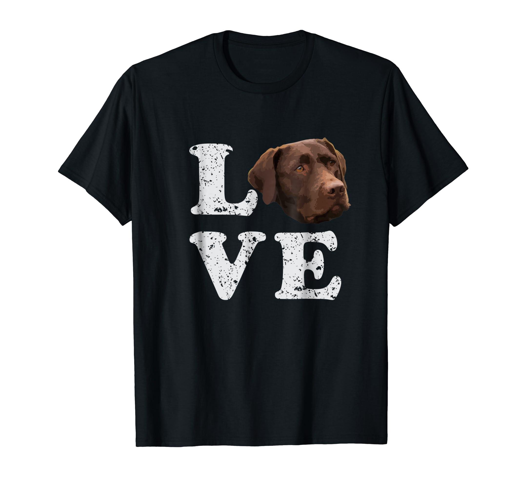 I Love My Chocolate Lab T-Shirt | Labrador Retriever Dog Tee-Men's T-Shirt-Black
