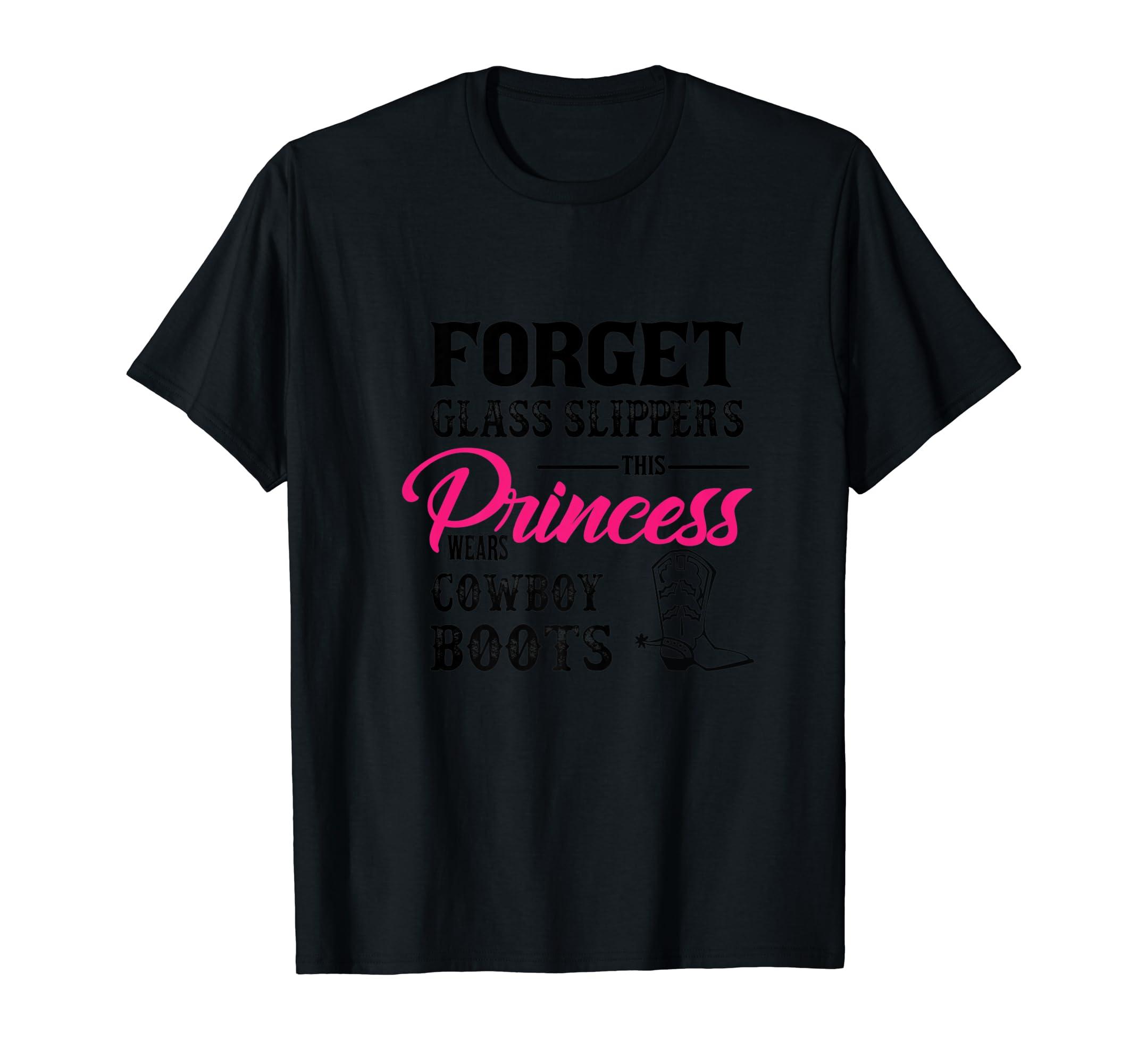 Womans Cowgirl Cowboy Boots T-shirt for Girls-Men's T-Shirt-Black