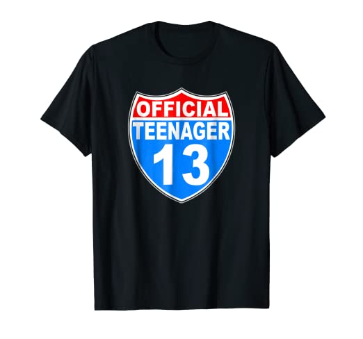 13th Birthday Gift Shirt For 13 Year Old Boys New Teenager