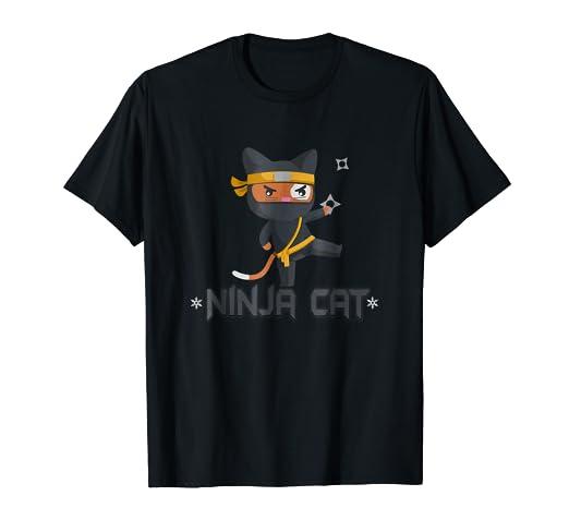 Amazon.com: Cat Ninja Shirt Halloween Ninja Kitty Shirt ...