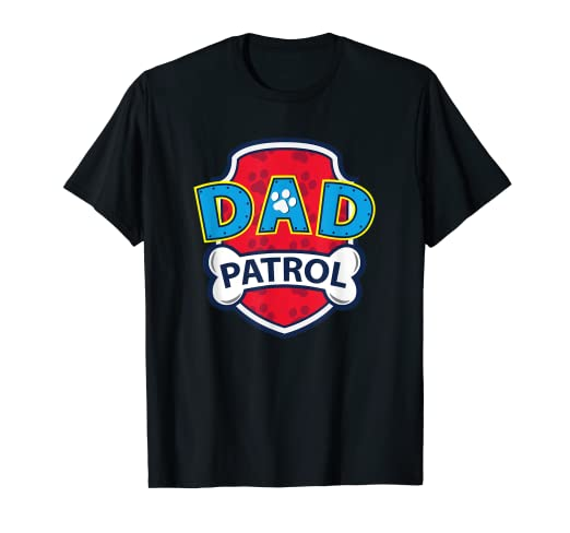 fe10a35d Image Unavailable. Image not available for. Color: Mens Funny Dad Patrol T- Shirt | Dog ...