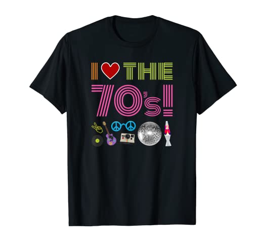 c57aa863 Image Unavailable. Image not available for. Color: I Love The 70s Tee Shirt  ...