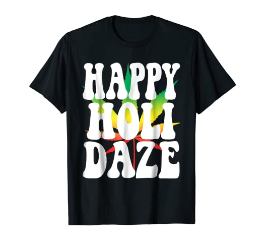 ab4d8c7f8 Image Unavailable. Image not available for. Color: HAPPY HOLIBLAZE Shirt  Xmas Marijuana ...
