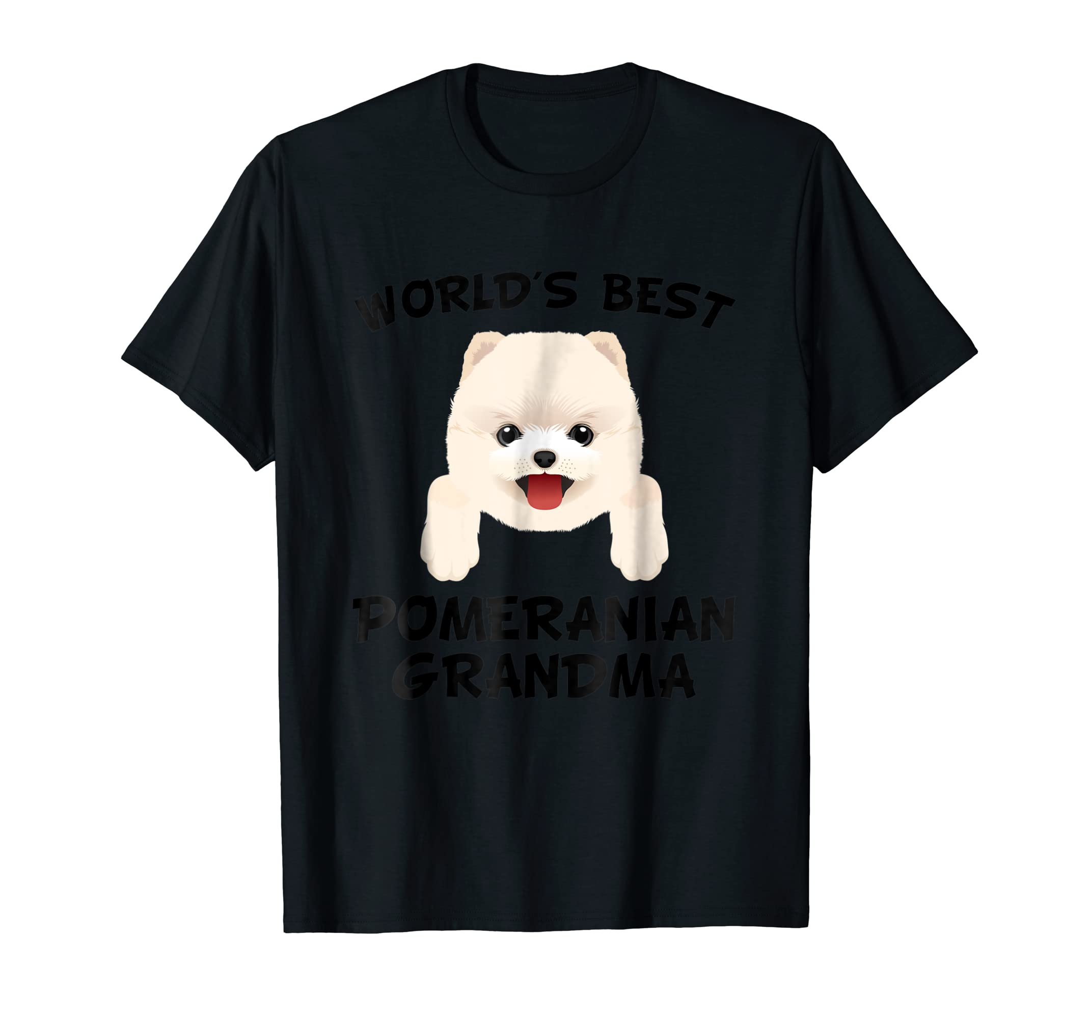 World's Best Pomeranian Grandma Dog Granddog T-Shirt-Men's T-Shirt-Black