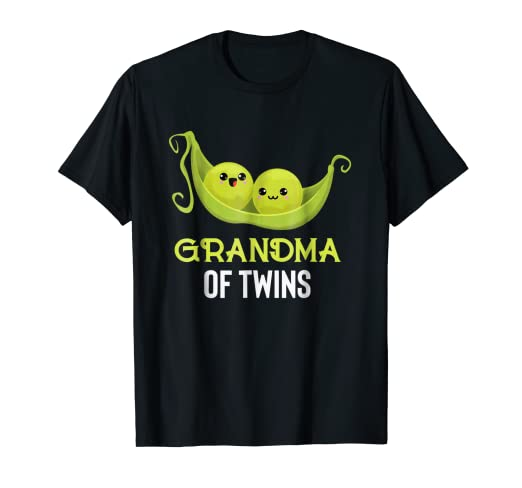 de84a583fd308 Image Unavailable. Image not available for. Color: Two Peas in a Pod  Grandma of Twins T-Shirt ...