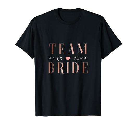 eff77e28 Image Unavailable. Image not available for. Color: Team Bride T-shirt  Bachelorette Party ...