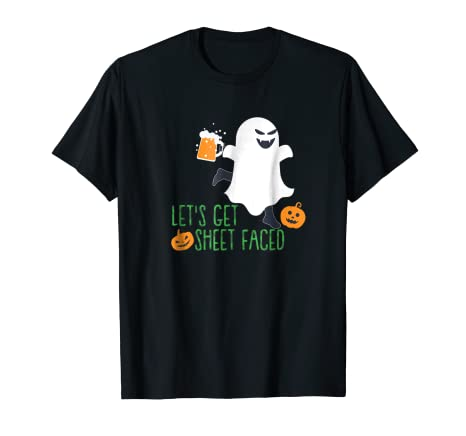 Lets Get Sheet Faced Ghost T Shirt Halloween Gift