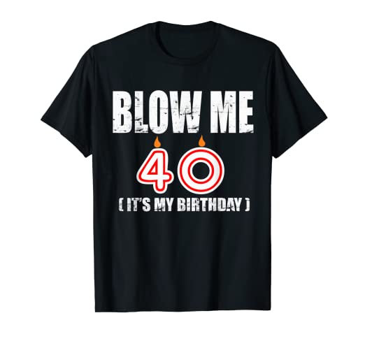 6552a788b7d6 Image Unavailable. Image not available for. Color: Happy 40th Birthday T- shirt ...