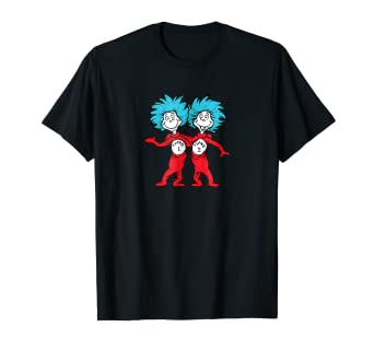 4c189ebb5217 Image Unavailable. Image not available for. Color: Dr. Seuss Thing 1 Thing 2  Buddies T-shirt