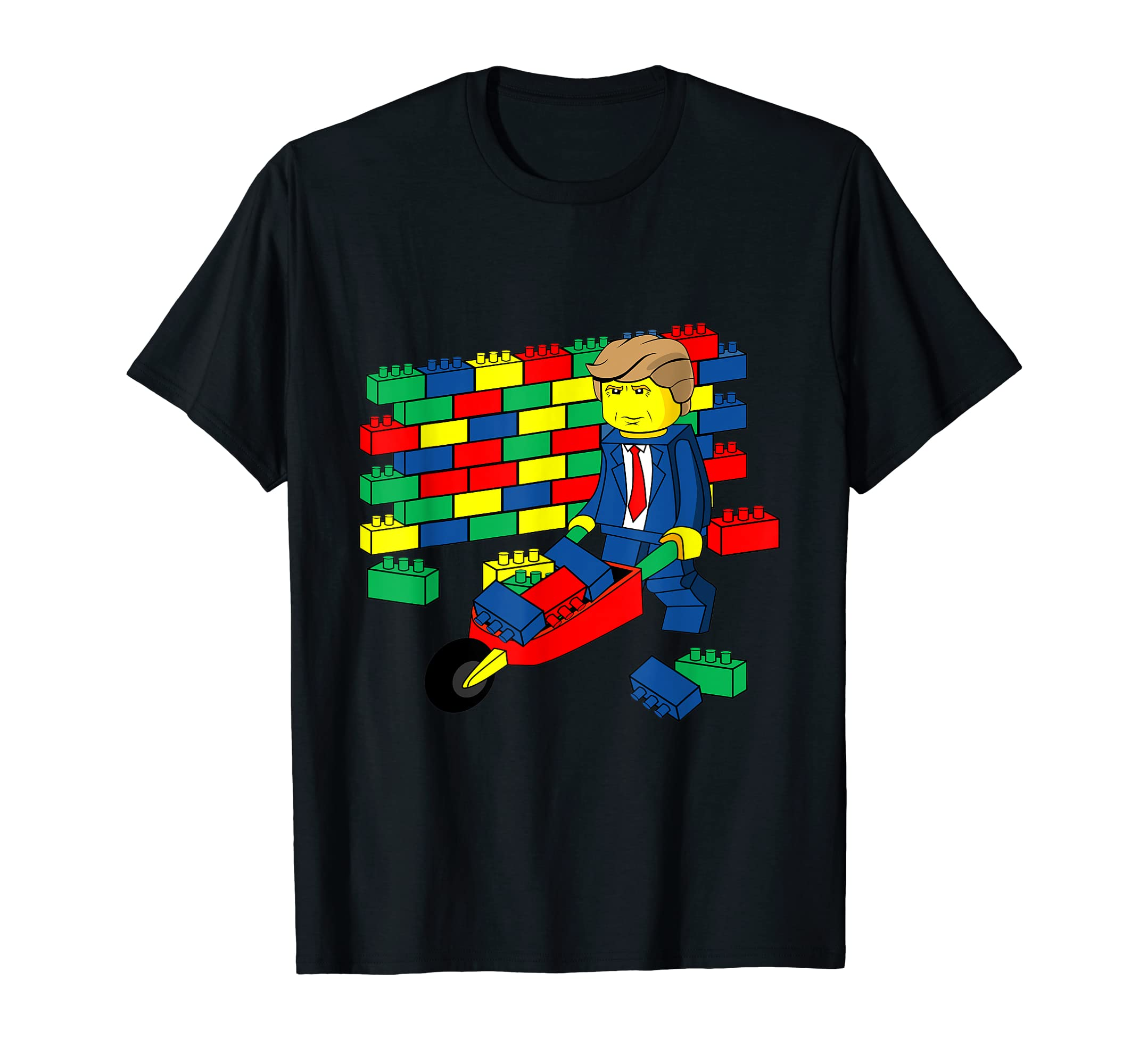 a842703e07b Amazon.com  Donald Trump - Build Wall T-Shirt  Clothing