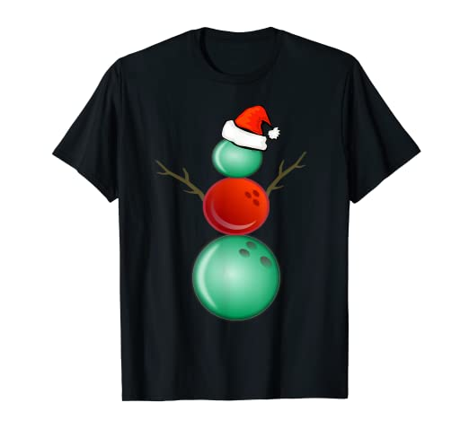 f54fdc7ffd0f Image Unavailable. Image not available for. Color: Funny Christmas Shirts  Bowling Snowman T-Shirt