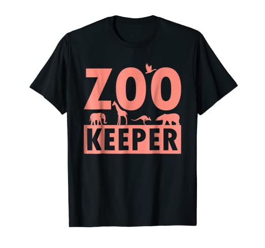 75407d70b Amazon.com: Zoo Keeper T-Shirt for Zoo Workers, Animal Lovers, Staff ...