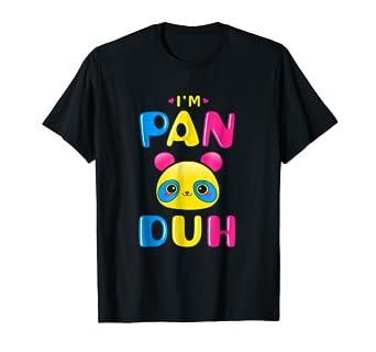 059934af320324 Amazon.com  Pansexual Shirt Funny Gay Pride LGBT I m Pan Duh Panda ...