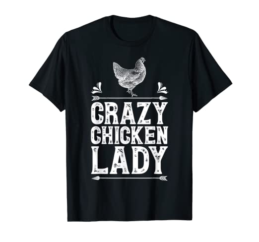 566fc1f3a Image Unavailable. Image not available for. Color: Crazy Chicken Lady T  Shirt Funny ...