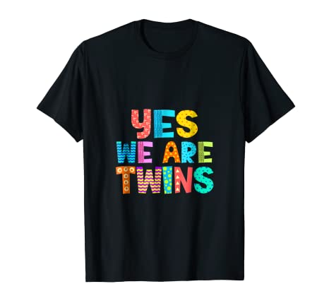 Amazon Yes We Are Twins T Shirt Cute Matching Gifts Clothing