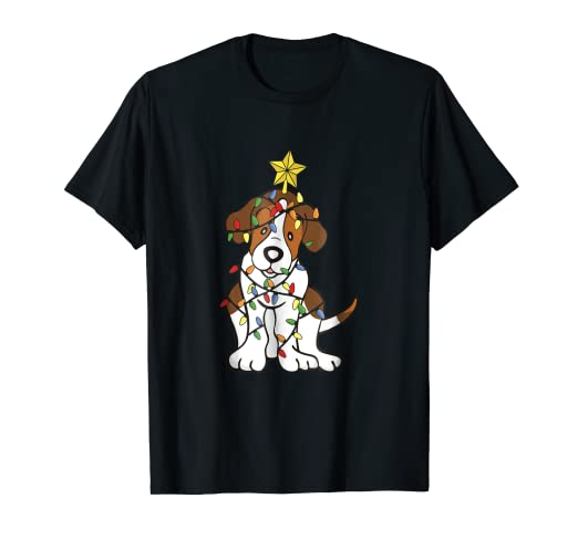 869f99efc7 Amazon.com: Xmas Tree Russell Terrier Lover Light Christmas Gift T ...