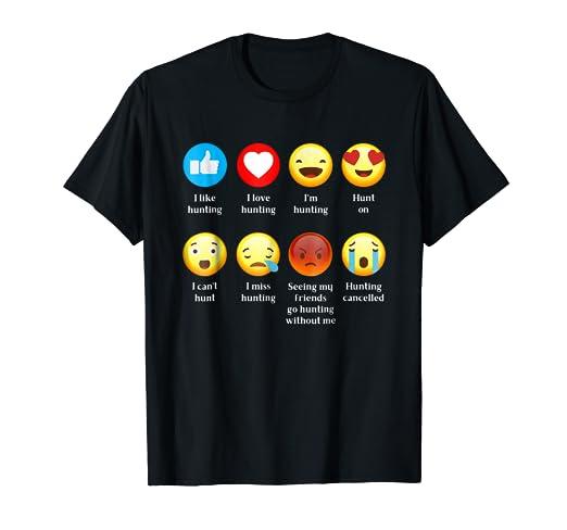 Amazon Com Funny Hunter Emoji I Love Hunting Emoji Emoticon T