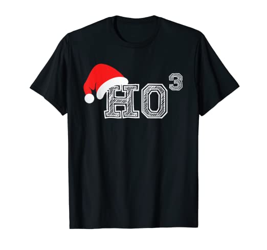 eb214b26 Image Unavailable. Image not available for. Color: Ho Ho Ho X 3 Third Power  - Funny Christmas Holiday T Shirt