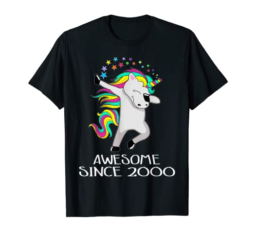 8c08fc627736 Image Unavailable. Image not available for. Color: Unicorn 19 Years Old 19th  Birthday Girl T-Shirt ...