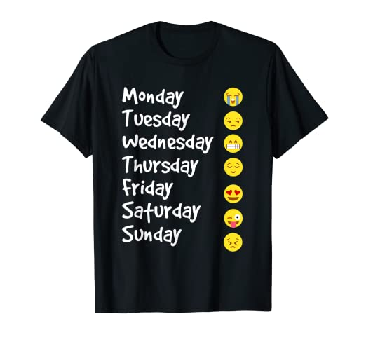 fa27d614 Image Unavailable. Image not available for. Color: Emoji T-Shirt Love Your  Emoticon Shirt 7 Days A Week!