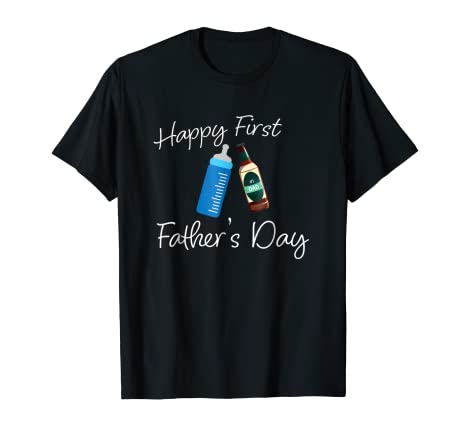 Amazoncom Happy First Fathers Day Dad And Baby Gift Idea T