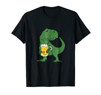 ce350ec0 Image Unavailable. Image not available for. Color: SmileteesDrink Funny T- rex ...