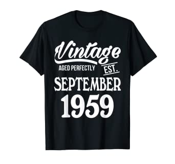 Amazon Vintage Age Perfectly Est September 1959 60th Birthday