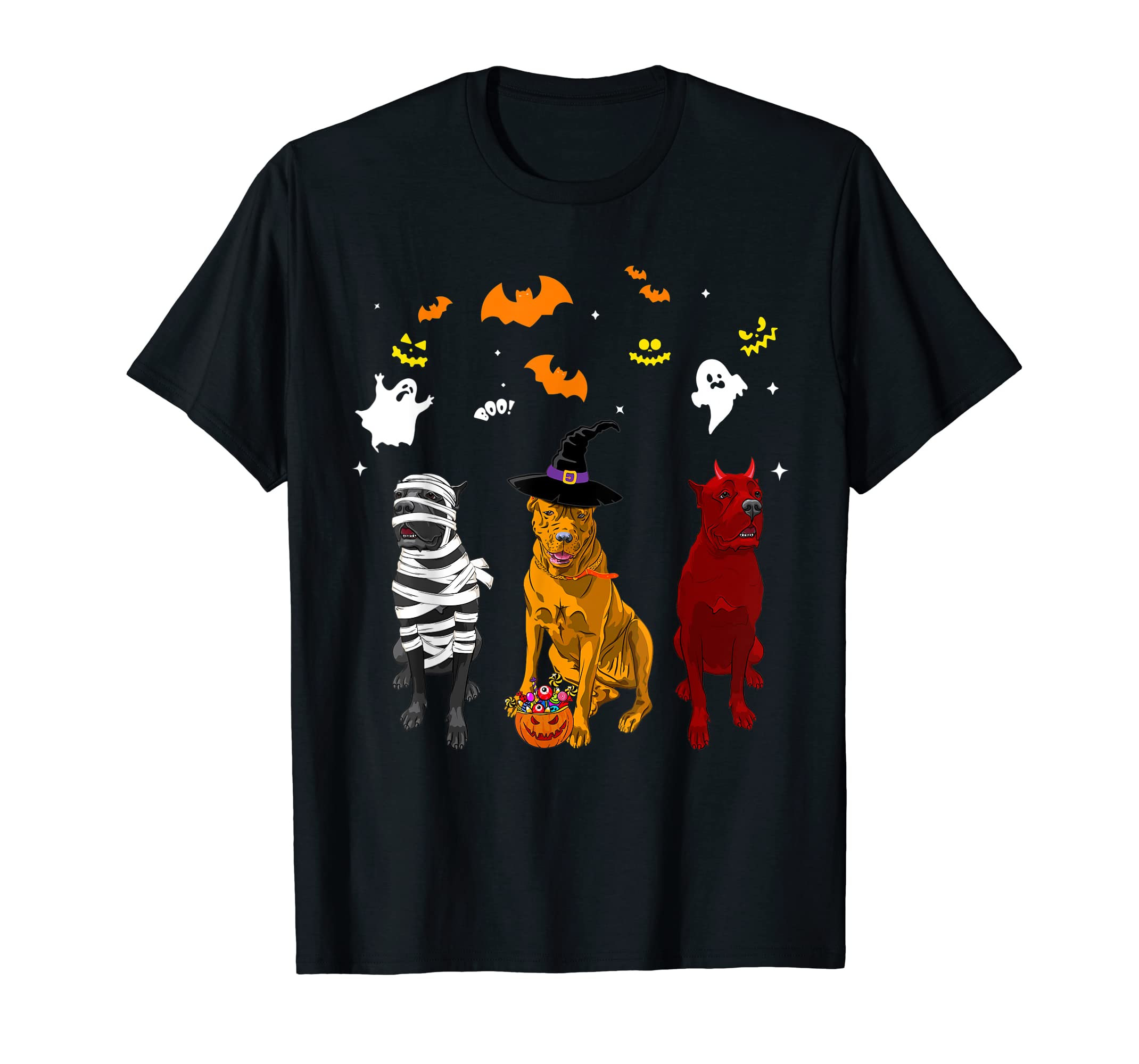 Halloween cane corso Dogs Lovers Mummy Witch Demon Costumes T-Shirt-Men's T-Shirt-Black