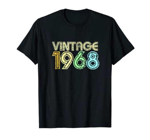 Amazon Vintage 1968 T Shirt Men Women Retro 60s 50th Birthday