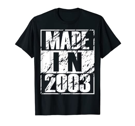 Amazon Vintage 16th Birthday Gift Funny Made In 2003 T Shirt