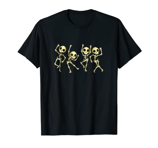 2af119f95 Image Unavailable. Image not available for. Color: Skeletons Dancing Halloween  T-Shirt - Halloween Costume Gift