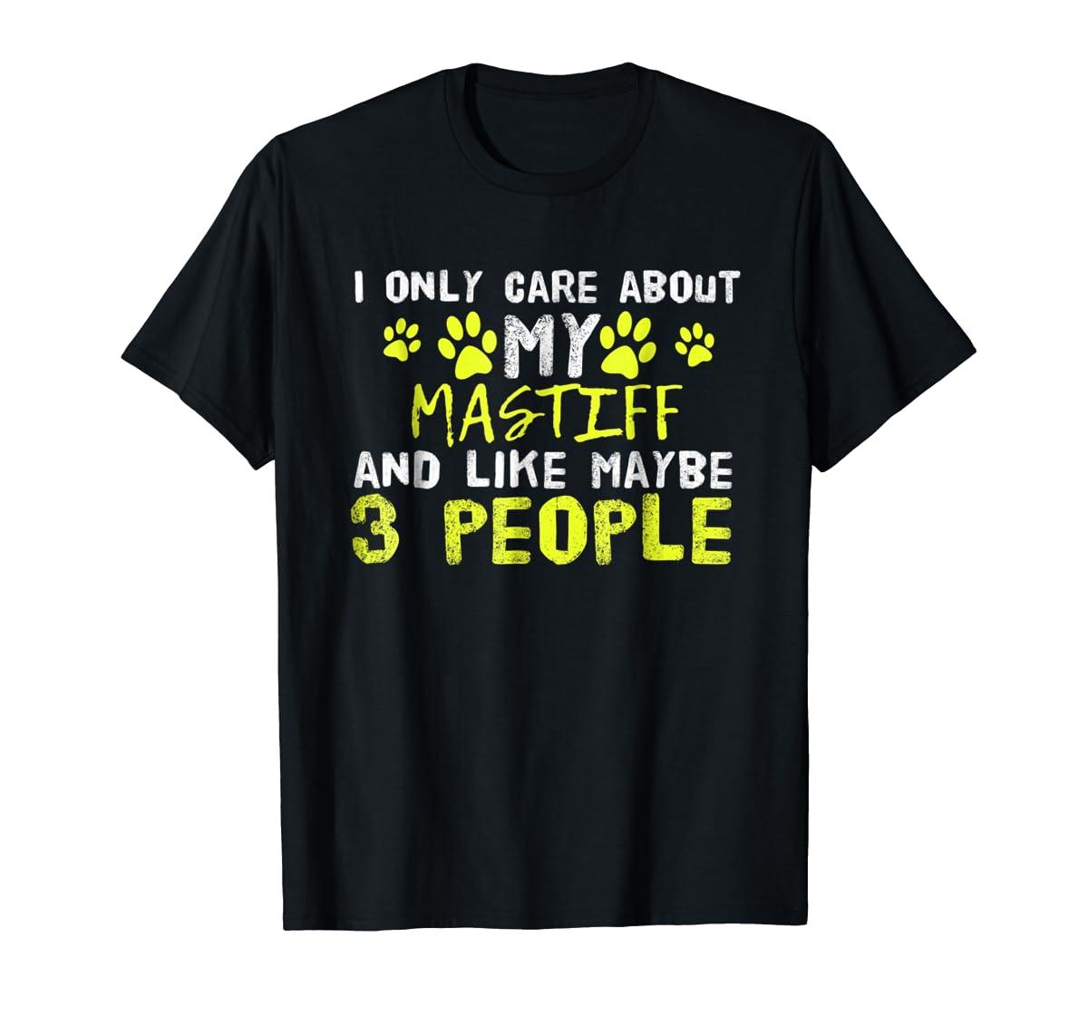 Mastiff Dog Shirt Introvert Love My Dog Tee-Men's T-Shirt-Black