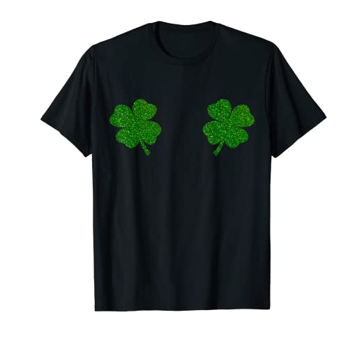 2b3b40856 Image Unavailable. Image not available for. Color: Irish Shamrock Boobs Tee  Saint Paddys St.Patrick's Day Shirt