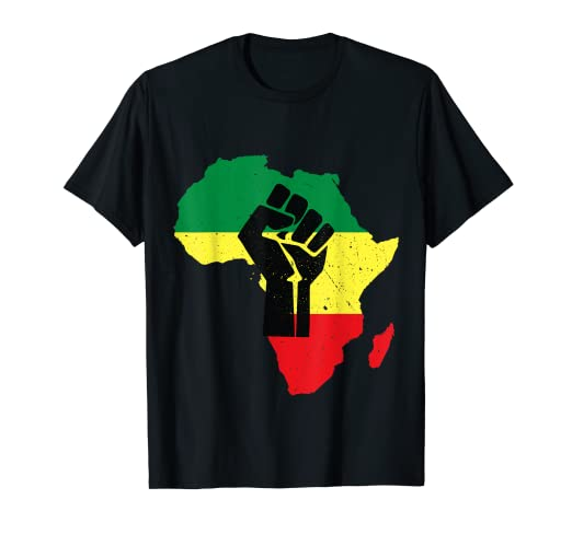Amazon com: Outline Africa Continent Unity Pan Africa Ethiopian Fist