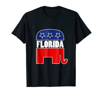 2f06b534cd5cba Image Unavailable. Image not available for. Color  Florida republican shirt  GOP elephant logo tshirt