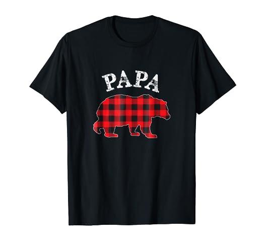 9d5997cb9 Amazon.com  Red Plaid Papa Bear Buffalo Matching Family Pajama T ...