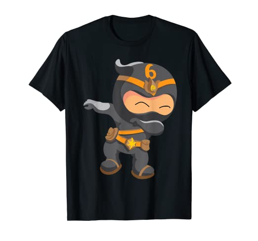 Amazon.com: Dabbing Ninja Birthday Gifts T-Shirt for 6-Year ...