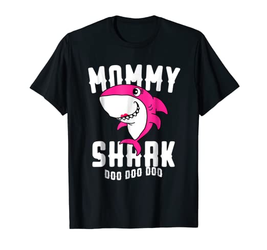 212e07a1 Image Unavailable. Image not available for. Color: Mommy Shark T Shirt  Mother Grandma Halloween Christmas