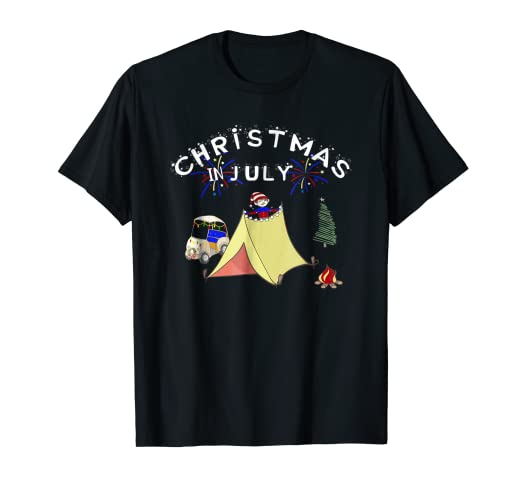 Christmas In July Camping.Amazon Com Christmas In July Funny Golf Cart Camping T
