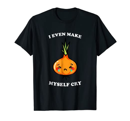 45b8dbe7e Image Unavailable. Image not available for. Color: I Even Make Myself Cry  Sad Orange Onion Design T-Shirt