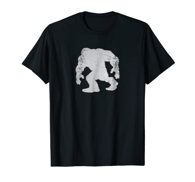 Large Strong Gorilla walking white graphic Tee Shirt