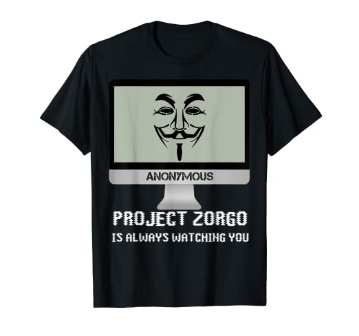 Anonymous Mask Project Zorgo Protest Hacker Gift T-shirt