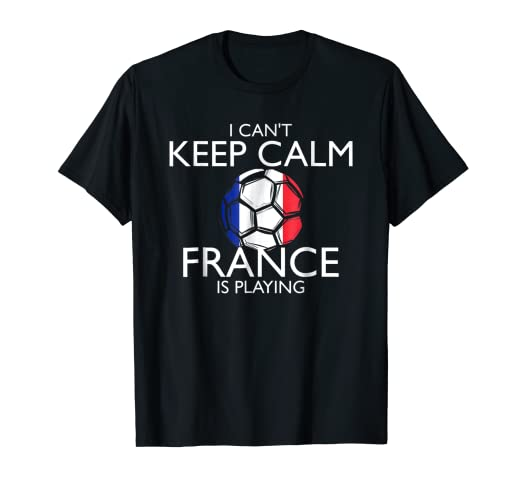 3dae8d3b4 Image Unavailable. Image not available for. Color: France Football Jersey  2018 French Soccer T-Shirt