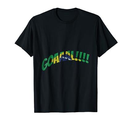 Goal Brazil soccer national team TEE Shirt for futbol fans