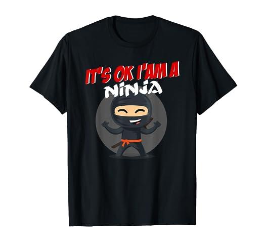 Amazon.com: Funny Ninja Shirt for Boys and Girls Ninja gift ...