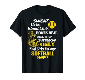 ec79dc2d555 Amazon.com  Softball Shirts - Softball Player T shirts  Clothing